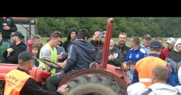 2020 Svilaj - Takmičenje prevlačenje traktora preko crte-1 kate.